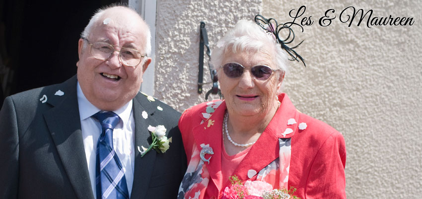 Wedding photography for Les & Maureen